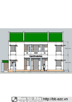 Nhà kiểu ba gian 12x5,4m