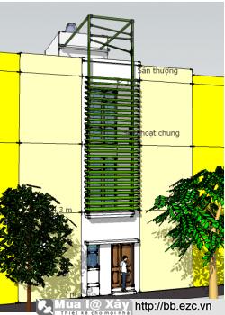 Nhà ống (nhà phố) 3x11m - 3 tầng - 2 phòng ngủ