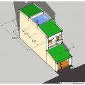 Nhà ống (nhà phố) 5x20m (4 phòng ngủ - 3 tầng)