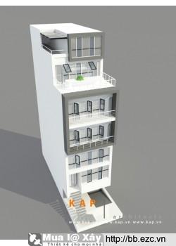 Nhà ống (nhà phố) (đất 6,2x18 m, nhà 6,2x14,5m) - 6 tầng - 6 phòng ngủ - có thang máy - tiện nghi cao cấp