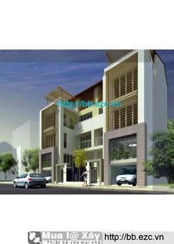 Nhà ở gia đình / nhà phố / biệt thự phố 8x12 m (5 tầng - 5 phòng ngủ)