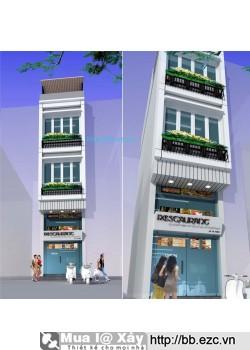 Nhà ống (nhà phố) 3x9m kinh doanh hàng ăn (5 tầng - 3 phòng ngủ)