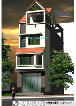 Nhà ống (nhà phố) 4.5x12m (3,5 tầng - 4 phòng ngủ)