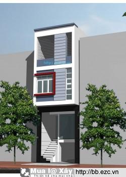 Nhà ống (nhà phố) 4x16m lệch tầng (4 tầng, 4 phòng ngủ)