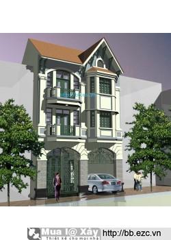 Nhà phố 9x12m (3 tầng - 4 phòng ngủ)