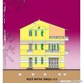 Biệt thự / nhà vườn 12x6.4m (3 tầng - 3 phòng ngủ)