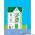 Biệt thự / nhà vườn 8.5x12.2m - 3 tầng - 3 phòng ngủ