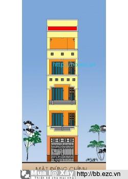 Nhà ống (nhà phố) 3.6x11.5 m (5 tầng, 4 phòng ngủ)