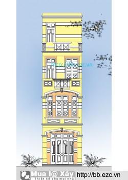 Nhà ống (nhà phố) 3.7x10.5m (4 tầng, 4 phòng ngủ)