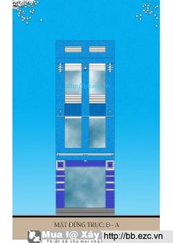 Nhà ống (nhà phố) 4x15m (3 tầng, 3 phòng ngủ trên 1 tầng)