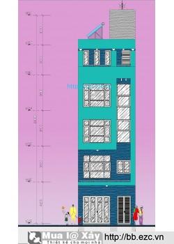 Nhà ống (nhà phố) 5.8x9m - 5 tầng - 3 phòng ngủ